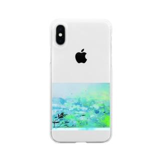 10時の海 Soft clear smartphone cases
