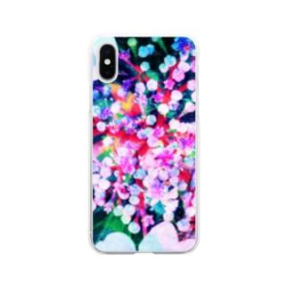 紫陽花 Soft clear smartphone cases
