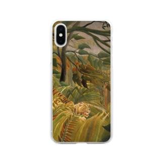 熱帯嵐のなかのトラ / アンリ・ルソー(Tiger in a Tropical Storm(Surprised!)1891) Soft clear smartphone cases