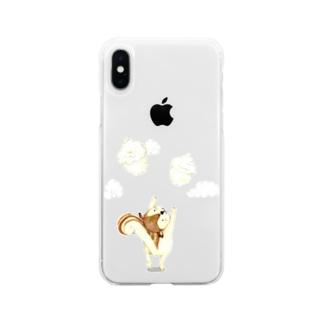よくばりリス君 Soft clear smartphone cases