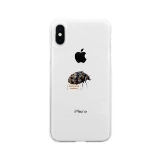 ヒメマルカツオブシムシ Soft clear smartphone cases