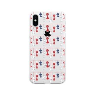 【日本レトロ#11】てるてる坊主 Soft clear smartphone cases