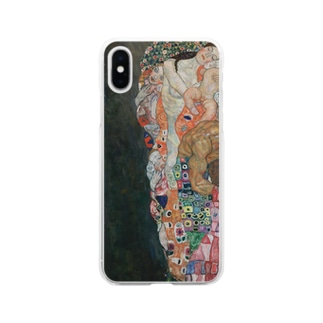 グスタフ・クリムト / 1916 /Death and Life / Gustav Klimt Soft clear smartphone cases
