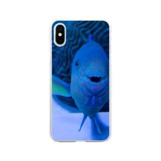 おさかなこんにちわ Soft clear smartphone cases