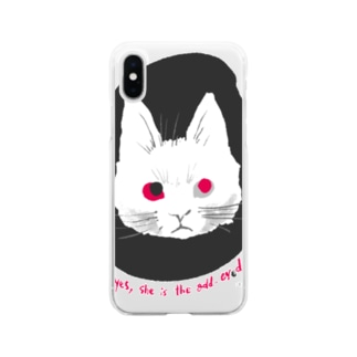 odd-eyed cat Soft clear smartphone cases