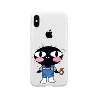 《奈留島》うに男 Soft clear smartphone cases