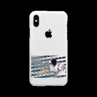 bordercolliefivekのボーダーコリーモデル Soft clear smartphone cases