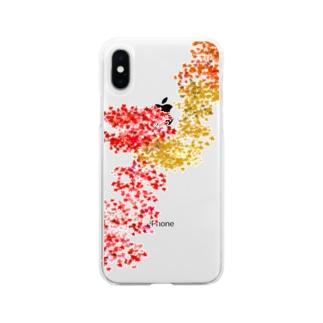 紅葉(京都の三尾) Soft clear smartphone cases