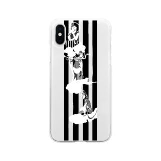 kyotsubeの雲中供養菩薩 Soft clear smartphone cases