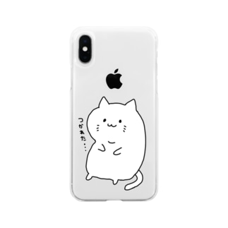 つかれた猫くん Soft clear smartphone cases