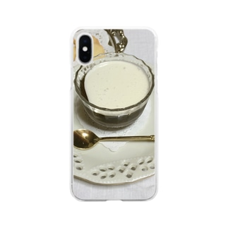 コーヒーゼリー Soft clear smartphone cases
