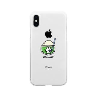 クリームソーダ(テンサイフェスタver) Soft clear smartphone cases