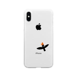 Mr. black bird Soft clear smartphone cases