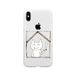 もふちゃん Soft clear smartphone cases