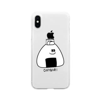 おにぎりくん Soft clear smartphone cases