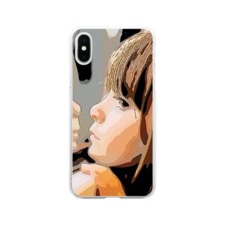 女の子 Soft clear smartphone cases