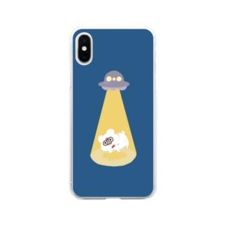 UFOナイト・テディ轟 Soft clear smartphone cases