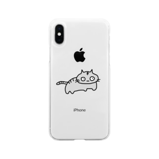 トラ猫の銀次 Soft clear smartphone cases