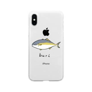ブリ Soft clear smartphone cases