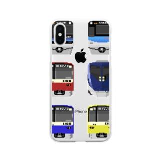 北総線 Soft clear smartphone cases