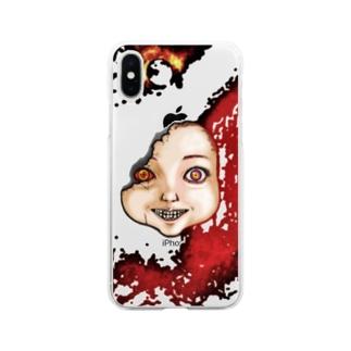 ドール Soft clear smartphone cases