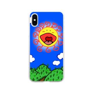 サンサン 字無しバージョン Soft clear smartphone cases