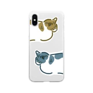 neko-neko Soft clear smartphone cases