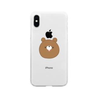 ぺろくま【ちゃ いっぴき】 Soft clear smartphone cases