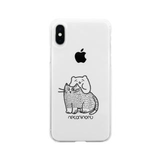 ねこにのる(モノ) Soft clear smartphone cases