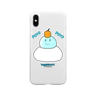 ぽよぽよスライムかがみもちコスプレ Soft clear smartphone cases