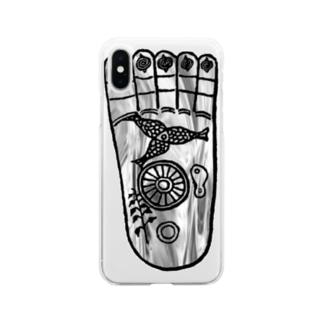 仏足散華 Soft clear smartphone cases