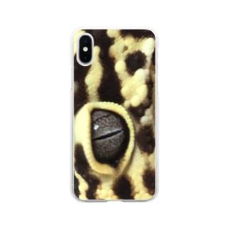 レオパのザザくん Soft clear smartphone cases