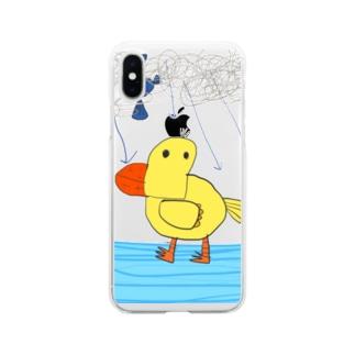 アヒルのクワッキー Soft clear smartphone cases