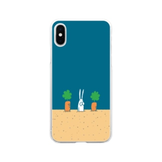うさぎタイツと畑 Soft clear smartphone cases