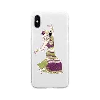 【タイの人々】伝統舞踊のダンサー Soft Clear Smartphone Case