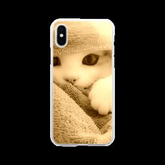 Fiore717のごめんねこ。0214 Soft clear smartphone cases