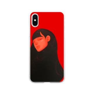 麗髪(うるかみ)シリーズ Soft clear smartphone cases