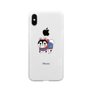 いぬはりこ Soft clear smartphone cases