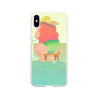ゆたかなぷーるらいふ Soft clear smartphone cases