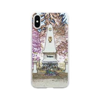 CG絵画:ベートーヴェンの墓 CG art: Tomb of Beethoven Soft clear smartphone cases