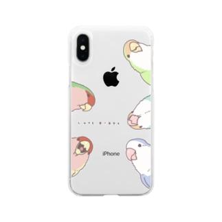 顔出しコザクラスマホケース Soft clear smartphone cases
