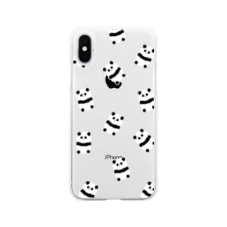 たくさんパンダ(クリア) Soft clear smartphone cases