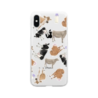 乳牛いっぱい🐄 Soft clear smartphone cases