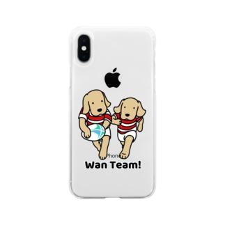 ラグビー Wan Team(ソフト) Soft clear smartphone cases