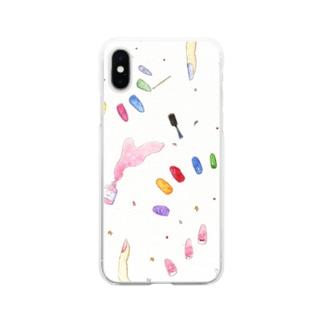 いろどりパレット Soft clear smartphone cases