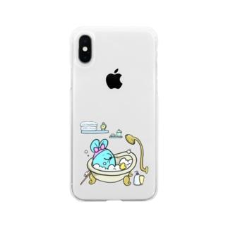 ねずみを洗え Soft clear smartphone cases