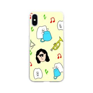 吹奏楽部 Soft clear smartphone cases
