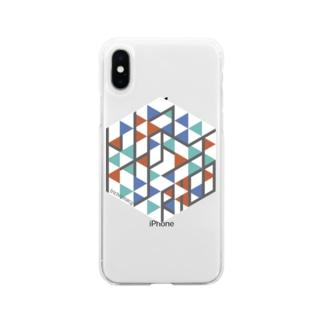 トリクロマシイiPhoneケース Soft Clear Smartphone Case