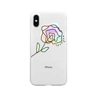 控えめな君にらぶち Soft clear smartphone cases