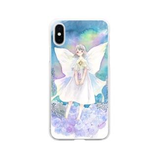 月の妖精 Soft clear smartphone cases